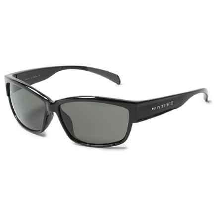 Native Eyewear Toolah Sunglasses - Polarized (For Women) in Gloss Black/Gray - Closeouts