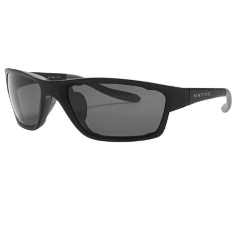 Native Eyewear Versa Sunglasses - Polarized, Extra Lenses in Asphalt/Grey