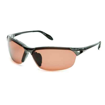 Native Eyewear Vigor Sunglasses - Polarized in Gunmetal/Copper - Closeouts