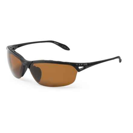 Native Eyewear Vigor Sunglasses - Polarized in Matte Black/Brown - Closeouts
