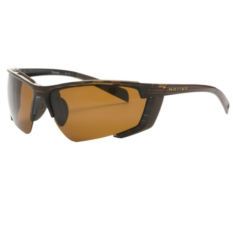 Native Eyewear Vim Sunglasses - Polarized, Interchangeable in Wood/Brown