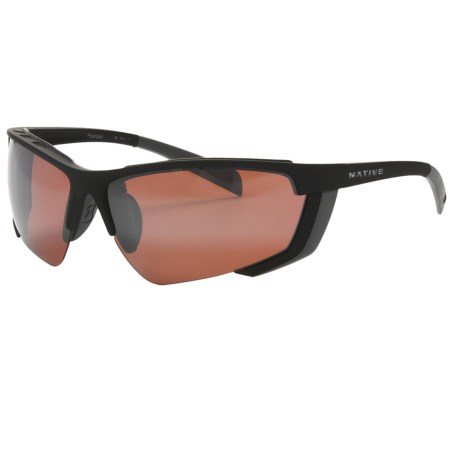 Native Eyewear Vim Sunglasses - Polarized Reflex Lenses, Interchangeable in Iron/Bronze Reflex