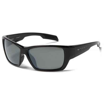 Native Eyewear Ward Sunglasses - Polarized, Extra Lenses in Gloss Black/Silver Reflex - Closeouts