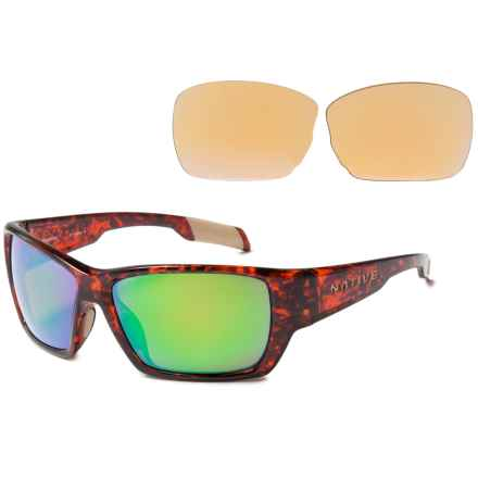 Native Eyewear Ward Sunglasses - Polarized, Extra Lenses in Maple Tortoise/Green Reflex - Closeouts