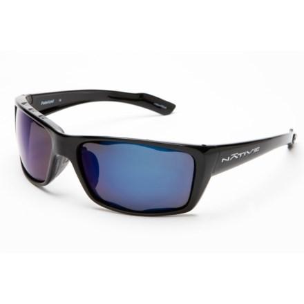 dab566c0f010 Native Eyewear Wazee Sunglasses - Polarized Reflex Lenses (For Men) in  Gloss Black/