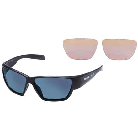 Native Eyewear Wolcott Sunglasses - Polarized, Extra Lenses in Asphalt/Blue Reflex - Closeouts