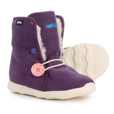 Native Shoes AP Luna Boots (For Girls) in Purple/White - Closeouts