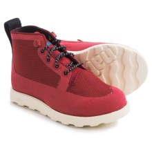 Native Shoes Fitzroy Boots (For Little and Big Kids) in Fire Truck Red/Bone White - Closeouts