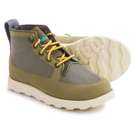 Native Shoes Fitzroy Boots (For Little and Big Kids) in Utili Green/Bone White - Closeouts