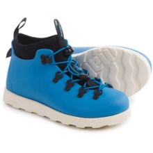 Native Shoes Fitzsimmons Shoes - Waterproof (For Little and Big Kids) in Megamarine Blue/Bone White - Closeouts