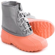 Native Shoes Jimmy Junior Rain Boots - Waterproof (For Big Kids) in Cockatoo Pink/Quail Purple - Closeouts