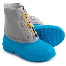 Native Shoes Jimmy Junior Rain Boots - Waterproof (For Big Kids) in Megamarine Blu/Pigeon Grey - Closeouts