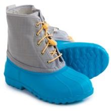 Native Shoes Jimmy Junior Rain Boots - Waterproof (For Big Kids) in Megamarine Blu/Pigeon Grey - Closeouts
