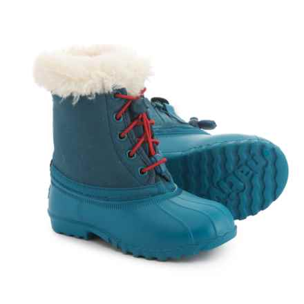 Native Shoes Jimmy Winter Snow Boots (For Boys) in Midnight Blue/Midnight Blue - Closeouts