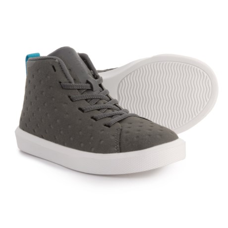 Native Shoes Monaco Mid Sneakers - Side Zip (For Boys) in Grey