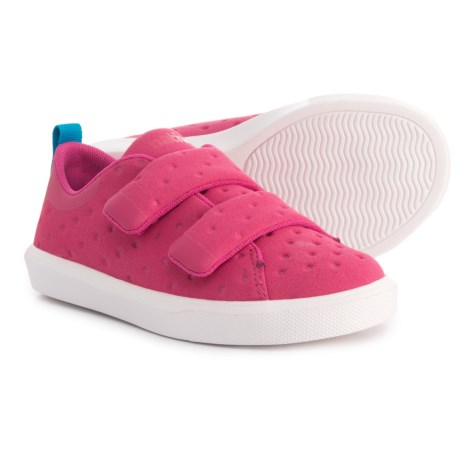 Native Shoes Monaco Sneakers - Touch-Fasten (For Girls) in Pink
