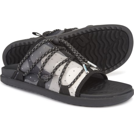 576dbf47361 Native Shoes Palmer Print Slide Sandals (For Men) in Jiffy Black Jiffy Black