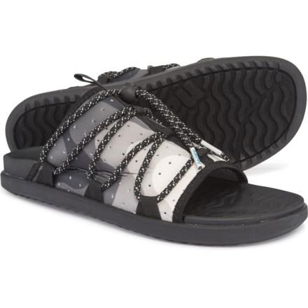 8fd3876f55080 Native Shoes Palmer Print Slide Sandals (For Men) in Jiffy Black/Jiffy Black