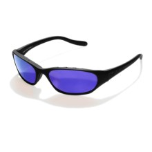 Native Throttle Sport Sunglasses - Polarized in Asphalt/Blue Reflex - Closeouts