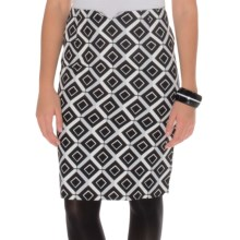 Natori Geo Stretch Cotton Skirt (For Women) in Black - Closeouts