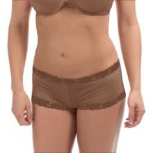 Natori Lace-Trimmed Panties - Boy Shorts (For Women) in Suntan - Closeouts