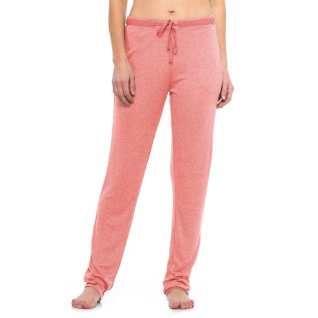 Natori Speckled Interlock Lounge Pants (For Women) in Coral