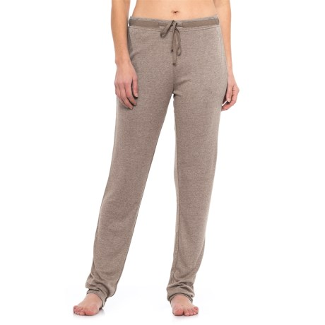 Natori Speckled Interlock Lounge Pants (For Women) in Light Coffee