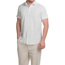 Natural Blue Button-Front Shirt - Short Sleeve (For Men) in White - Closeouts
