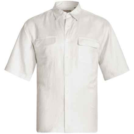 Natural Blue by Visitor Linen Blend Shirt - Short Sleeve (For Men) in White - Closeouts