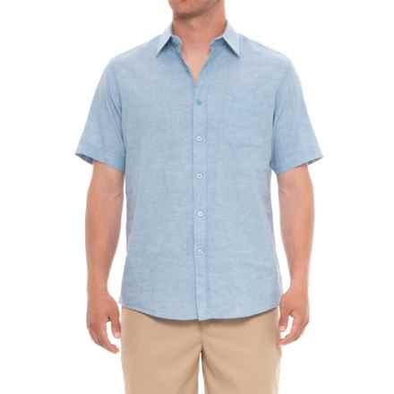 Natural Blue Delave Pocket Shirt - Short Sleeve (For Men) in Silver Lake Blue - Overstock