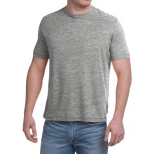 Natural Blue Linen-Blend T-Shirt - Short Sleeve (For Men) in Charcoal - Closeouts
