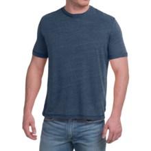 Natural Blue Linen-Blend T-Shirt - Short Sleeve (For Men) in Navy - Closeouts
