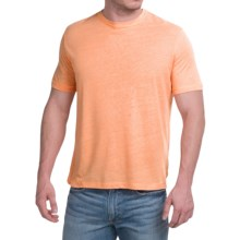 Natural Blue Linen-Blend T-Shirt - Short Sleeve (For Men) in Orange - Closeouts