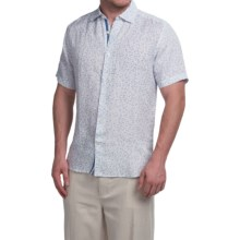 Natural Blue Linen Shirt - Short Sleeve (For Men) in Blue - Closeouts