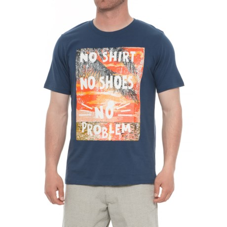 Natural Blue No Shirt No Shoes T-Shirt - Crew Neck, Short Sleeve (For Men) in Navy