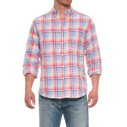 Natural Blue Plaid Printed Shirt - Long Sleeve (For Men) in Multi - Closeouts