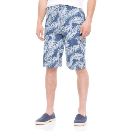 67bff4e9e2ada Natural Blue Printed Shorts (For Men) in Indigo/Palm Frond - Overstock