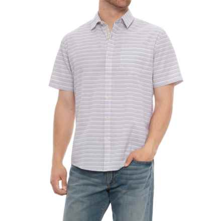 Natural Blue Seersucker Shirt - Short Sleeve (For Men) in Purple - Overstock