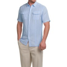 Natural Blue Yarn-Dyed Shirt - Short Sleeve (For Men) in Light Blue - Closeouts