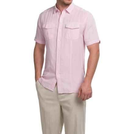 Natural Blue Yarn-Dyed Shirt - Short Sleeve (For Men) in Pink - Closeouts