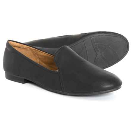 Natural Soul Ashley Loafers - Vegan Leather (For Women) in Black - Closeouts