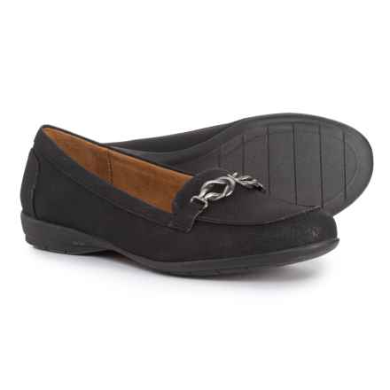 Natural Soul Gratitude Interlocked Bit Moccasins (For Women) in Black - Closeouts