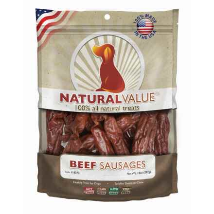 Natural Value Soft Chew Beef Sausage Dog Treats - 14 oz. in See Photo - Closeouts