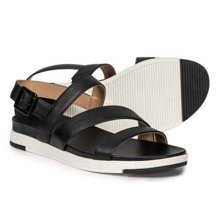 Naturalizer Andrea Strappy Sandals (For Women) in Black Smooth Synthetic
