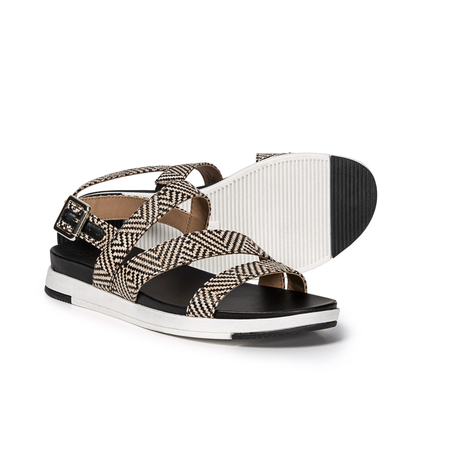 7090687d0177 Naturalizer Andrea Strappy Sandals (For Women) in Black Woven