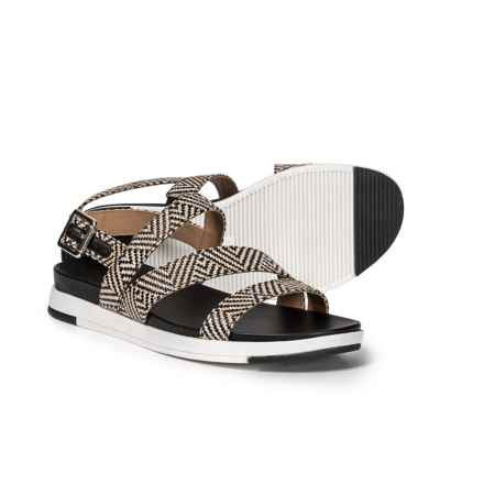 Naturalizer Andrea Strappy Sandals (For Women) in Black Woven
