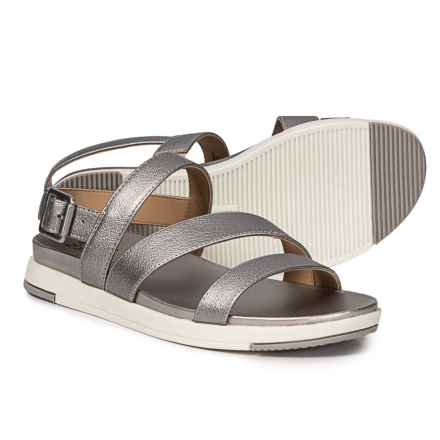 Naturalizer Andrea Strappy Sandals (For Women) in Silver Frost Metallic Synthetic