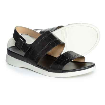 Naturalizer Emory Sandals - Leather (For Women) in Black Croco Leather