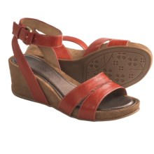 Naturalizer Panya Sandals - Wedge (For Women) in Cactus Red - Closeouts