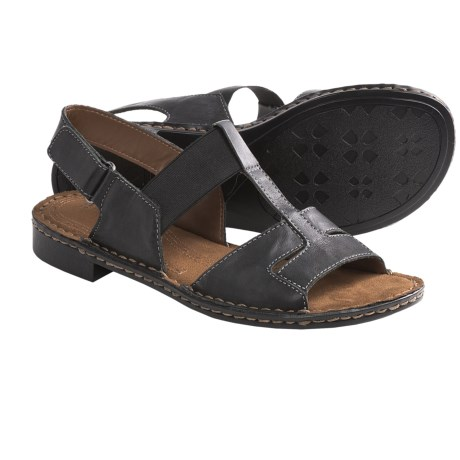 Naturalizer Ravanna Sandals - Leather, T-Strap (For Women) in Black